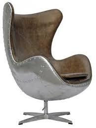 aviator arne jacobsen aj egg chair aluminium spitfire brown vintage leather arne jacobsen style alpha shell egg