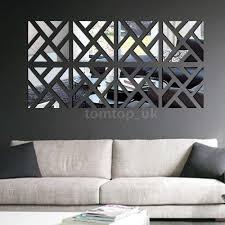 mirror sets wall decor new geometric diy 3d mirror wall decal set sticker art decals