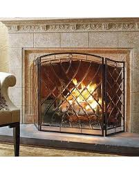 glass fireplace screen. Victoria Beveled-Glass Fireplace Screen - Frontgate Glass