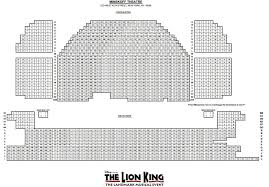Lion King Theatre Seating Chart Qualified Lion King Minskoff Theatre Seating Chart 2019