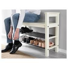 Ikea Shoe Storage Hemnes Bench With Shoe Storage White 85x32 Cm Ikea