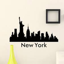 the wall sticker vinyl art mural new york modern ideas new york skyline wall