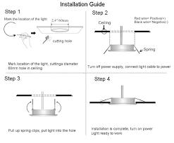 acegoo recessed ceiling light led 12v 3w installation manufacturer installation instructions