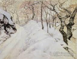victor charreton paintings paysage d hiver sous la neige