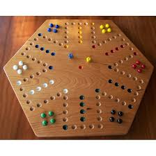Game With Marbles And Wooden Board Cherry Wood Aggravation Board Game 2