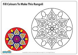 Coloring Pages Rangoli 6 To Snazzy Image Diwali - Chronicles Network