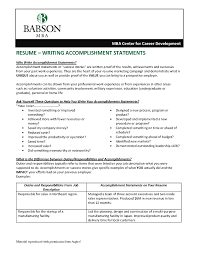 Resume Accomplishments Examples Customer Service New Achievements In
