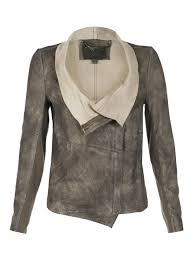elbe beige leather jacket