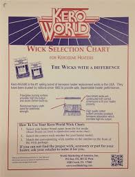 World Marketing Wc 2 Kerosene Heater Wick Chart