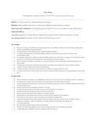 Resume Respiratory Therapist Resume For Your Job Application