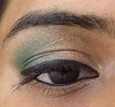 simple gold and green eye makeup tutorial