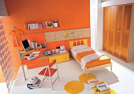 furniture color matching. orange paint color for boy bedroom with matching furniture