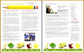 Elementary School Newsletter Ideas Barca Fontanacountryinn Com