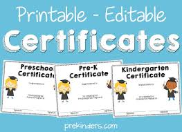 Kindergarten Diploma Template Preschool Graduation Certificate Free