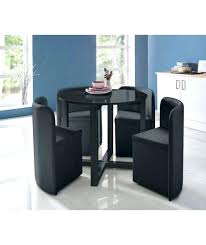 dining table and chairs round space saver black dinin space