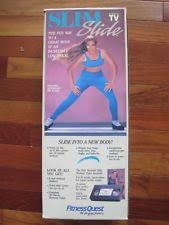 slim slide fitness quest lateral exercise board mat w booties skating trainer