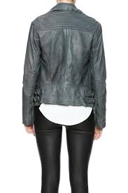 lucky brand authentic moto jacket back cropped image