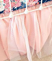 pink baby bedding crib skirt peach blush ballerina