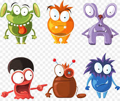 monster cartoon character line png