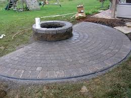 lovely paver patio with fire pit unique stamped firepit galena