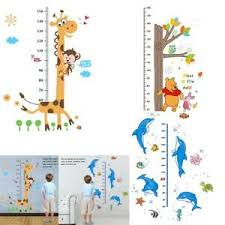 Details About Adhesive Cute Animal Height Chart Measure Wall Sticker Decal For Kids Baby Room