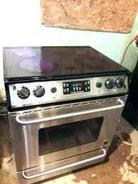 flat top stoves stainless steel glass stove gallery frigidaire oven cleaning gl