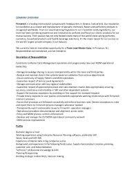 Data Management Specialist Resume Sample Master Data Management