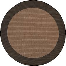 couristan recife checd field cocoa black 8 ft x 8 ft round indoor