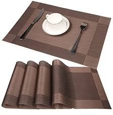 table placemats. famibay pvc place mats - heat insulation placemats stain-resistant woven vinyl table e