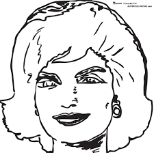 Small Picture Jackie Kennedy Onassis By Andy Warhol coloring page Free