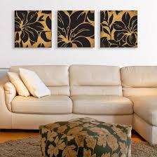 Wall Art Sets For Living Room Stupell Industries Floral Print 3 Piece Canvas Wall Art Set Wayfair