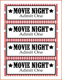 Printable Movie Ticket Template 11 Beautiful Image Pics