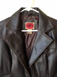 details about rvt clothing co las vegan distressed faux leather jacket blazer size small