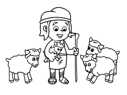 David And Goliath Coloring Pages Wumingme