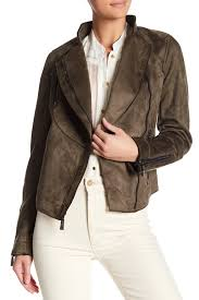 image of vince camuto faux suede asymmetrical zip jacket