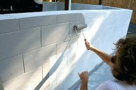 painting exterior cinder block how to paint cinder block painting exterior concrete block walls