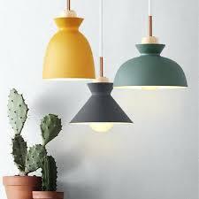 colorful pendant lights modern colorful pendant light wood metal lampshade pendant lamp creative bar cafe bedroom colorful pendant lights