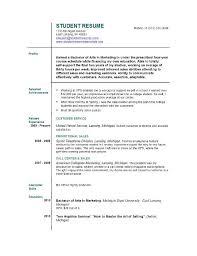 Sample College Student Resume Format
