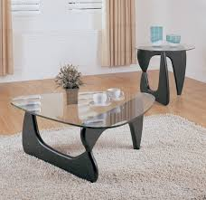black noguci legs and triangle modern glass coffee table set ideas to complete living