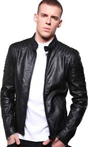 mens black biker leather reaver sibiu