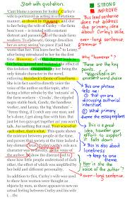 of mice and men character paragraphs annotated drafts character paragraph annotated samples 1