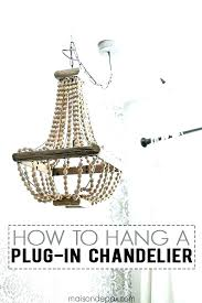 swag chandelier