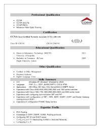 36 Unique Ccnp Resume Format Pelaburemasperak