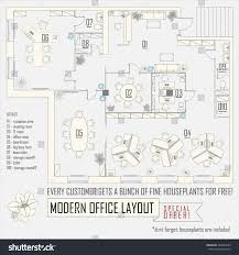 modern office plans. Modern Office Interior Vector Layout With Furniture Plans E