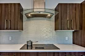 Glass tile kitchen backsplash Midcentury Kitchen San Francisco