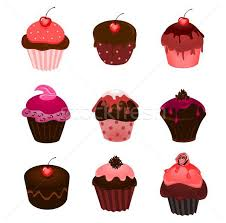 Cupcakes Vector Illustration Barbora Riegelová Barbarie
