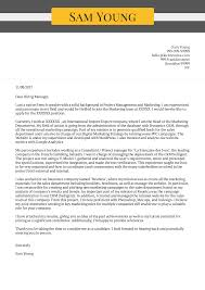 Cover Letter Sample For Supervisor Position Cover Letter Examples By Real People Marketing Manager