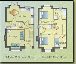 Floor Plans For Three Bedroom Semi Detached Houses At Cill Gréine,  Letterkenny, County Donegal