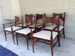 midcentury broyhill saga bowtie dining chair set