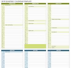 Calendar Quarters 2019 Calendar Quarters With Free Excel Templates Free Coloring Pages
